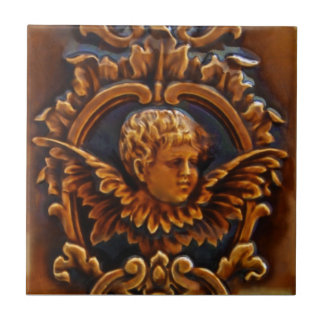 ò do azulejo antigo Repro do anjo do querubim do