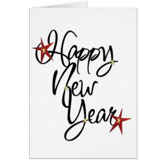 O ~ do cartão do feliz ano novo da VENDA