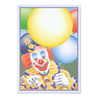 O © do palhaço de circo convite 12.7 x 17.78cm