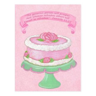 O ~ do suporte do bolo generoso progride cartão da