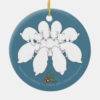… O dobro oito deOrdenha Manx tomou partido Ornamento De Cerâmica