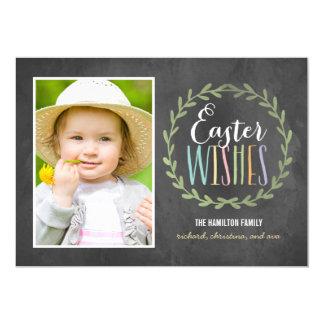 O doce deseja cartões com fotos da páscoa convite 12.7 x 17.78cm