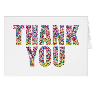 O doce dos cartões de agradecimentos do tema dos
