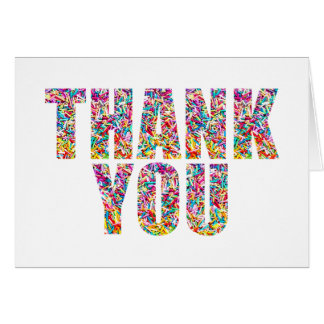 O doce dos cartões de agradecimentos do tema dos cartão de nota