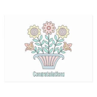 O doce floresce parabéns cartões postais