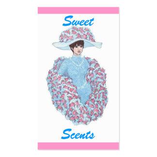 O doce Scents o cartão de visita
