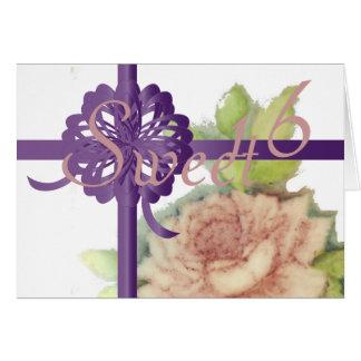 O doce universal dezesseis Convite-Personaliza Cartão Comemorativo