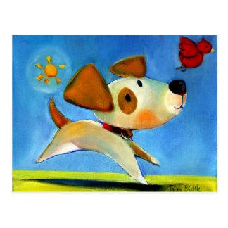 O Doggy 1 das crianças de Trish Biddle de 3 Cartão Postal