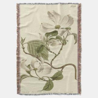 O Dogwood branco floresce a ilustração Throw Blanket