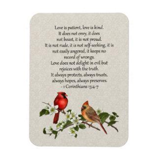 o Dogwood que dos cardeais 3x4 o amor é amor Foto Com Ímã Retangular