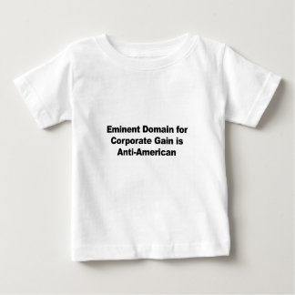 O domínio eminente para o ganho incorporado é camiseta para bebê