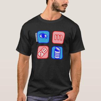 o dominó do olho m pode camiseta
