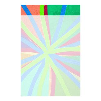 O Doodle da pintura da cor do divertimento alinha Papelaria