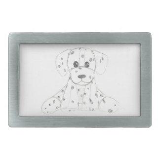 o doodle simples do cão caçoa o dalmatian branco