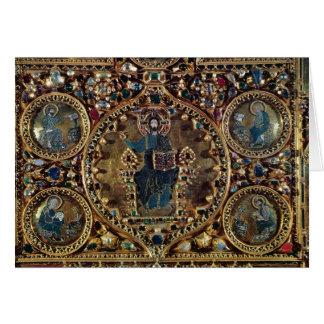 O d'Oro de Pala, detalhe de cristo na majestade co Cartão Comemorativo