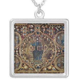 O d'Oro de Pala, detalhe de cristo na majestade co Colar Com Pendente Quadrado