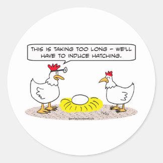 o doutor da galinha induz o ovo de choque adesivo
