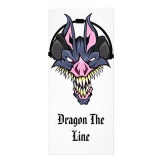 O dragão a linha DJ profissional submete o cartão 10.16 X 22.86cm Panfleto