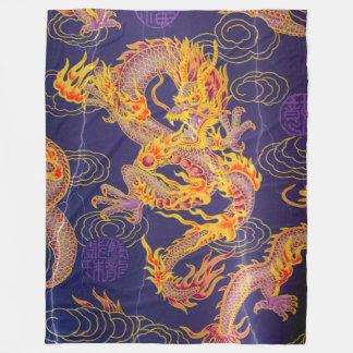 O dragão chinês antigo o mais popular do imperador cobertor de lã