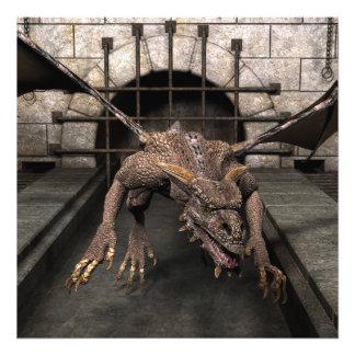 O dragão do sem saída está procurando algum comens impressão de foto