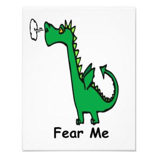 O dragão dos desenhos animados teme-me impressão de foto