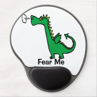O dragão dos desenhos animados teme-me mouse pad de gel