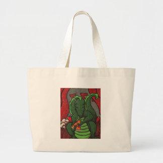 O dragão e a pizza bolsas para compras