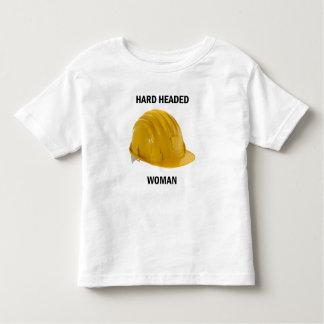O duro dirigiu a mulher camiseta infantil