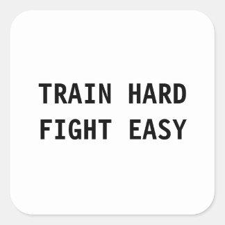 O duro do trem, luta a etiqueta fácil