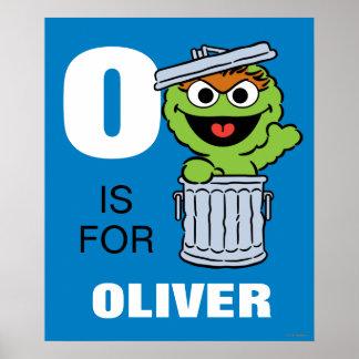 O é para Oscar o Grouch Poster