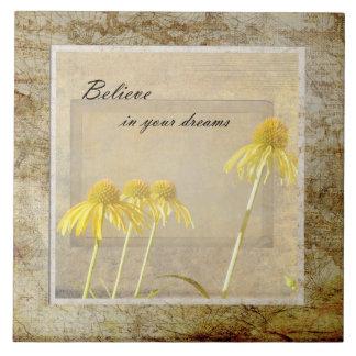O Echinacea amarelo inspirou floral