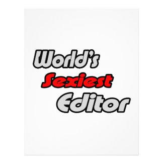 """O editor o mais """"sexy"""" do mundo panfleto personalizados"""