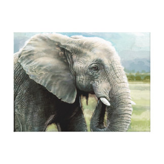 O elefante africano esticou o impressão das canvas