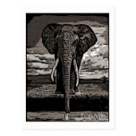 O elefante cartão postal