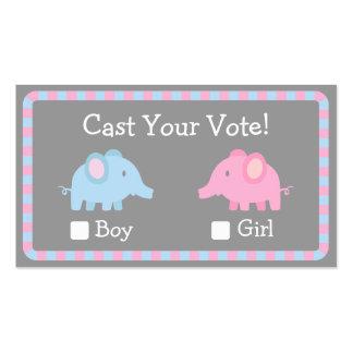 O elefante do bebê, género revela o partido, voto cartão de visita