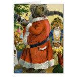 O elefante do papai noel comemora um Natal animal Cartão