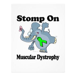 O elefante Stomp na distrofia muscular Panfletos