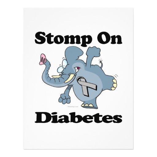 O elefante Stomp no diabetes Panfleto Coloridos
