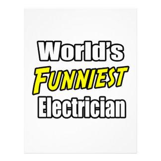 O eletricista o mais engraçado do mundo panfleto coloridos