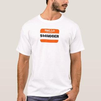 O elógio, olá! meu nome é. camiseta
