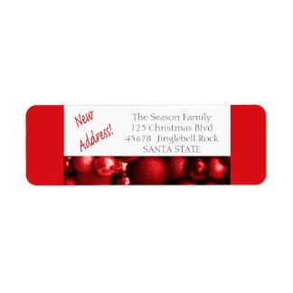 O endereço novo ornaments a etiqueta do feriado