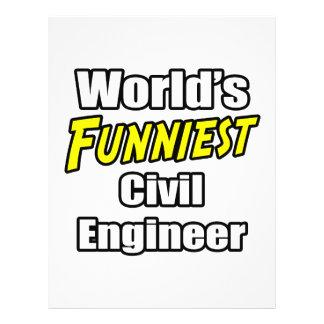 O engenheiro civil o mais engraçado do mundo panfletos personalizados