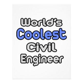 O engenheiro civil o mais fresco do mundo modelo de panfletos