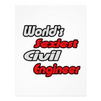 """O engenheiro civil o mais """"sexy"""" do mundo panfleto personalizado"""