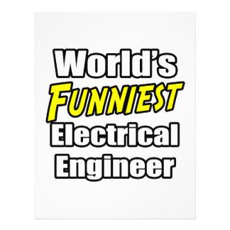 O engenheiro electrotécnico o mais engraçado do mu panfletos personalizado