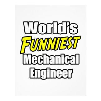 O engenheiro mecânico o mais engraçado do mundo panfletos personalizados