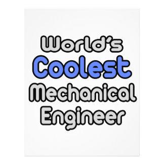 O engenheiro mecânico o mais fresco do mundo panfleto personalizados