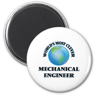 O engenheiro mecânico o mais inteligente do mundo ímã redondo 5.08cm
