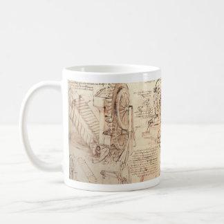 O engenheiro vê o problema caneca de café