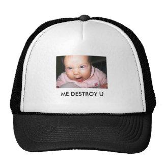 o engraçado-bebê-imagem-irritado-bebê, MIM DESTRÓI Boné
